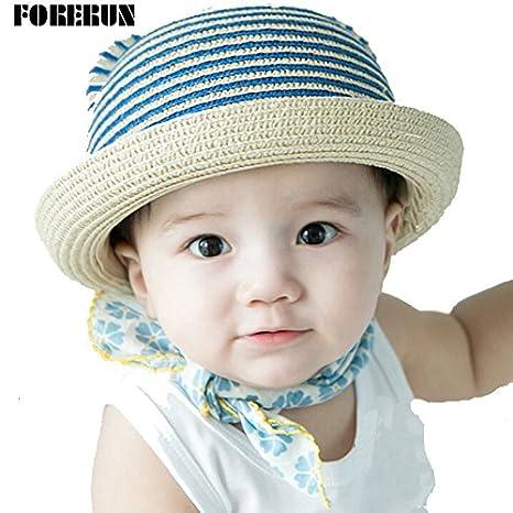 bcf15938c5b Buy Generic sapphire caps   2016 New Arrival Baby Bucket Hats Casual Straw Kids  Summer Hats Striped Sun Cap for Girls Casual Cute Visors Children s Cap ...