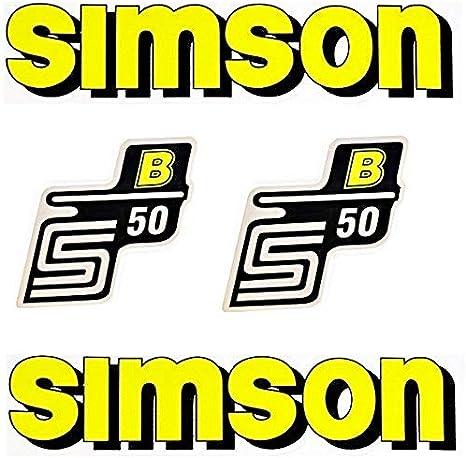 Set Aufkleber Klebefolie Simson S50 B Gelb Für Tank Und Seitendeckel Auto