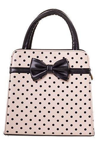 Apparel ROCKABILLY pois vintage Banned borsa Black CARLA Cream 50s dqwtfgxS