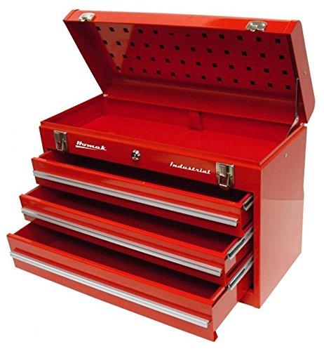 Homak BW00203200 - Caja de herramientas industrial de 3 cajones de 50,8 cm, con revestimiento de polvo de arrugas, color...