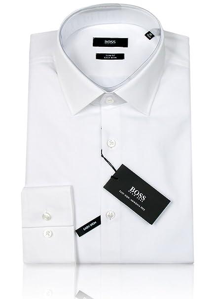 1c221df15e7ec BOSS Hugo Camisa formal - Ajustado - para hombre Weiß small  Amazon.es   Ropa y accesorios