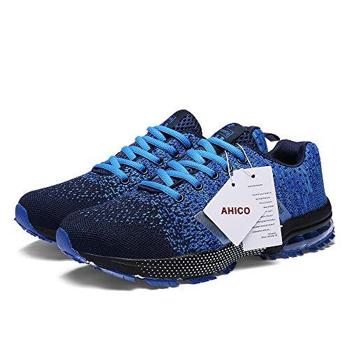AHICO Cushion Running Mens Sneakers Sports Air Blue Men Balck Shoes Womens Athletic Breathable Lightweight rxr1SqI