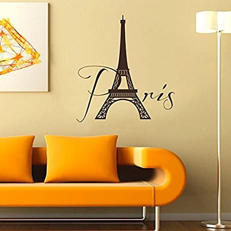 Amazon.com: Wall Decal Decor Paris Wall Decal Vinyl Lettering- Paris ...