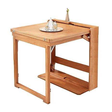 DIOE Mesa de comedor extensible para patio de madera maciza ...