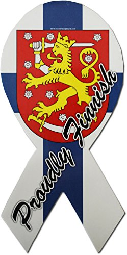 - Finland - Country Ribbon Magnet (Proudly Finnish)
