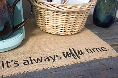 Coffee Maker Mat - Burlap Placemat for