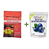 Matt's Munchies Premium Fruit Snack Apple-Licious -- 1 oz, ( 7 PACK ), Nature's All Foods Organic Freeze-Dried Raw Blueberries -- 1.2 oz