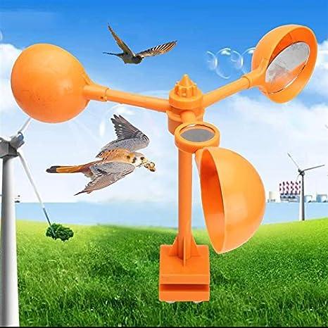 Hippicity Bird Repellent 360 Degrees Wind Power Operated Scarer Orange Garden Tools Vegetable Cereal Crops Protection Dog Cat Fox Repellent