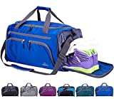 Venture Pal Packable Sports Gym Bag with Wet Pocket & Shoes Compartment Travel Duffel Bag for Men and Women-Royal Blue