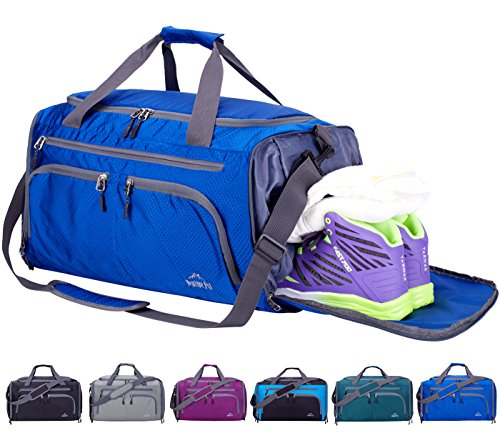 Sports Gym Bag with Wet Pocket & Shoes Compartment Travel Duffel Bag for Men and Women-Royal Blue ()