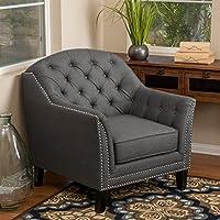 Ladera Dark Grey Fabric Club Chair