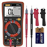 Digital Multimeter, Thsinde TRMS 6000 Counts Volt Meter Electronic Measuring Instrument AC Voltage Detector Portable Amp