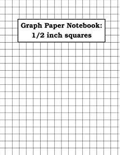 math graph paper notebook 1 2 inch squares 120 pages notebook