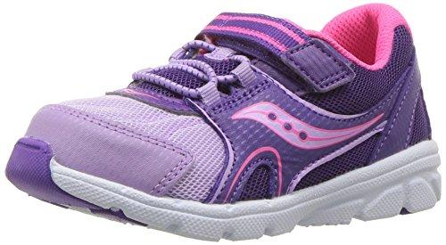 Saucony Girls' Baby Vortex Sneaker, Purple, 10 Wide US Toddler