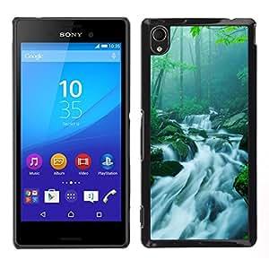 """For Sony Xperia M4 Aqua , S-type Naturaleza Cascada de bambú"""" - Arte & diseño plástico duro Fundas Cover Cubre Hard Case Cover"""
