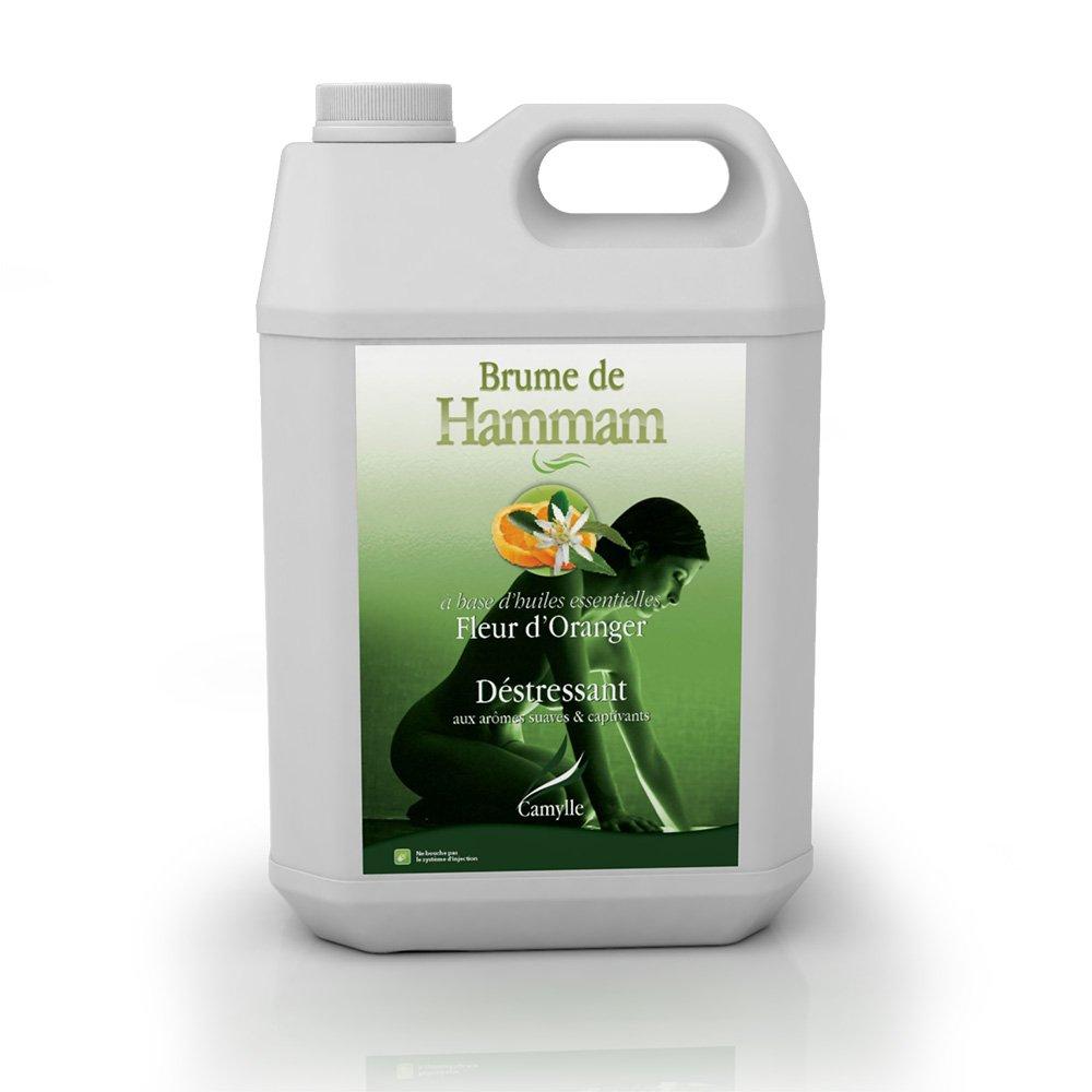 Camylle - Brume de Hammam - Emulsion d'huiles essentielles pour Hammam - Fleur d'Oranger- Dé stressant - 5000ml