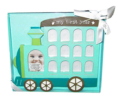 C.R. Gibson Baby's First Year Train Picture Collage Frame Keepsake