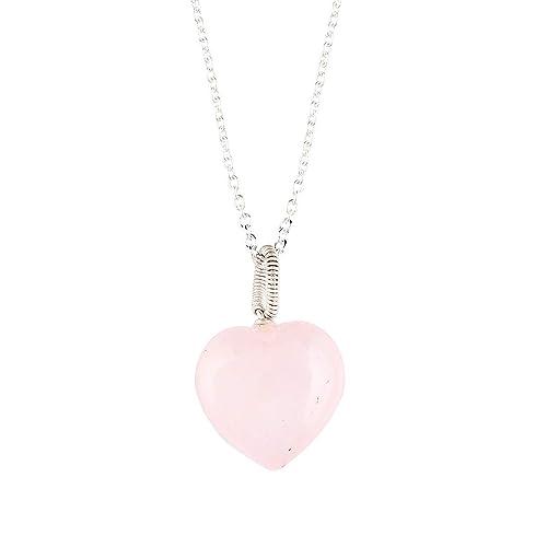 Buddhist Necklace Large Pink Gemstone Heart Pendant Minimalist Choos Lotus Flower Jewelry DELAYED SHIP Sale Rose Quartz Coexist Necklace
