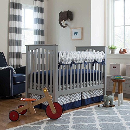 Carousel Designs Navy and Gray Elephants Crib Rail Cover by Carousel Designs (Image #3)