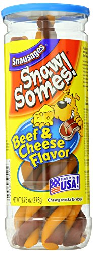 Snausages Snawsomes! Beef & Cheese, 9.75-Ounce Canister