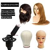HYOUJIN Wig Stand Metal Adjustable Cosmetology