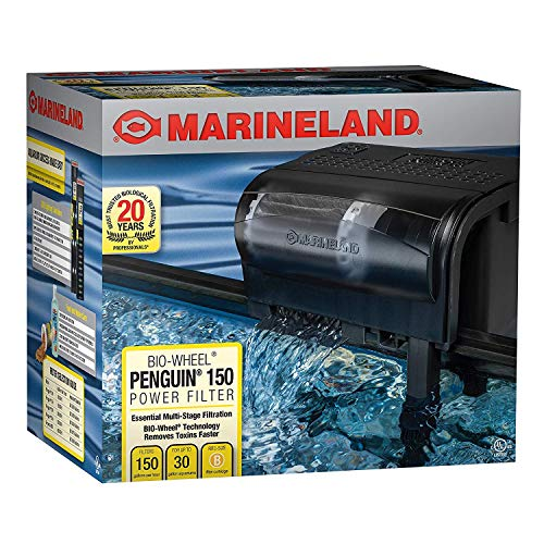 150 Power Filter - The Best Marineland Penguin Power Aquarium Filter, 20 to 30-Gallon, 150 GPH, Fish Tank