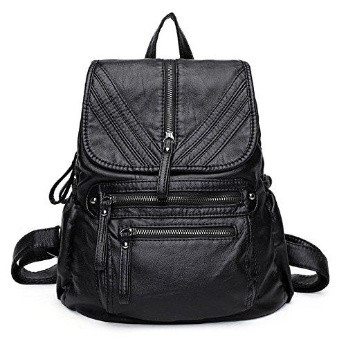 dos occasionnel randonnée Sac à main sac Style1 souple à sac sac voyage à cuir SchoolBag dos en YiNan à main zxnRwq8R