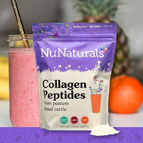 (NuNaturals Collagen Peptides Powder, Unflavored, Paleo, (14 oz))