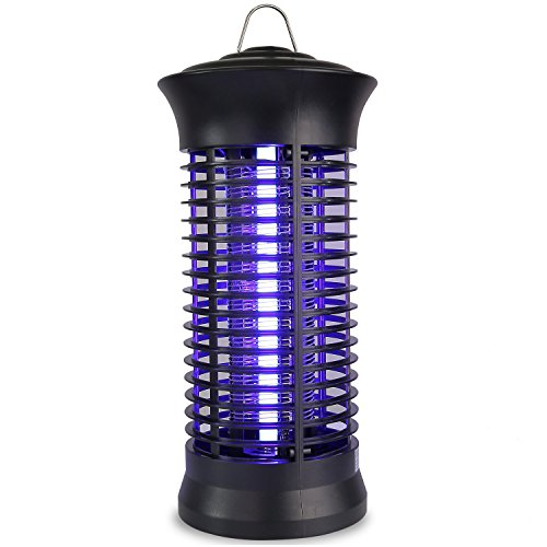 AbdTech Electric Bug Zapper Indoor Portable Insect Mosquito Killer Fly Trap Pests Zapper Catcher Lamp with UV Bug Light Safety for Bedroom, Backyard, Home, Office, Restaurant, Kitchens, (Large Vertical De Grid)