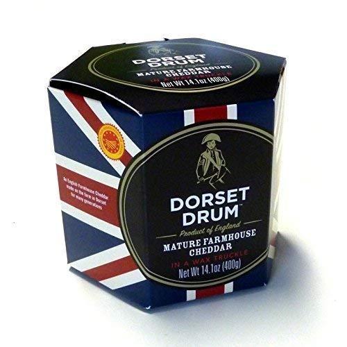 Cheddar Formaggio Agriturismo 400 g Dorset Drum 12 Mesi maturato Cheddar formaggio Coombe Castle