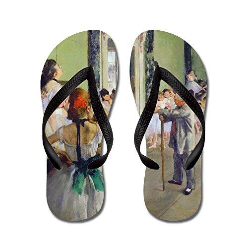 Cafepress Degas - Klass - Flip Flops, Roliga Rem Sandaler, Strand Sandaler Svart