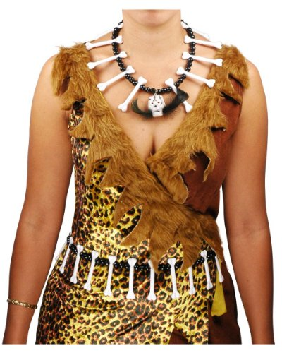 Cave Women Bone Necklace And Waistband (Pebbles Costume For 1 Year Old)