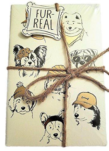 Fur-Real Dog Journals in Plastic wrapped in Twine Set of 3