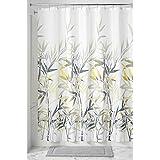"""InterDesign Anzu Fabric Shower Curtain, 72"""" x 72"""", Yellow/Gray"""