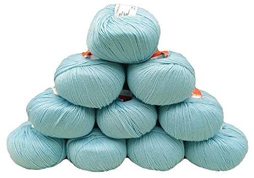 Yarn Place Basic Fingering Weight Yarn 100% Wool 500 Grams 10 Skeins Color ()