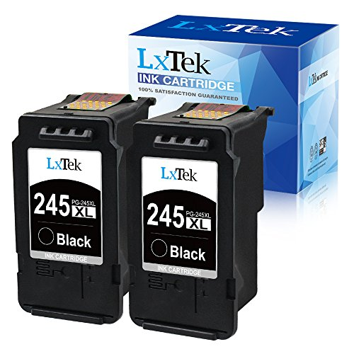 LxTek Remanufactured Ink Cartridge Replacement for Canon PG-245 PG-245XL 245XL 245 XL PG-243 to use with Pixma MX492 TR4520 TS3120 MG2420 MG2522 MX490 MG2920 MG2922 MG2520 IP2820 (2 Black-High Yield) ()