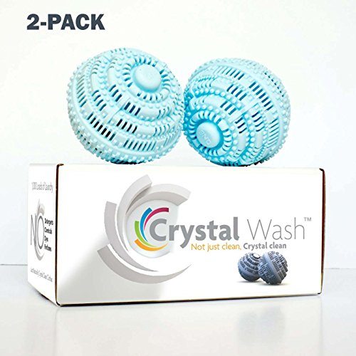 Crystal Wash - Wash Balls - Laundry Detergent Alternative - All Natural (2 pack - $109.99 = $10 Savings) by Crystal Wash