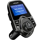 Bluetooth Wireless In-Car FM Transmitter, Radio Adapter Car Kit, 1.44 Inch Display, Supports