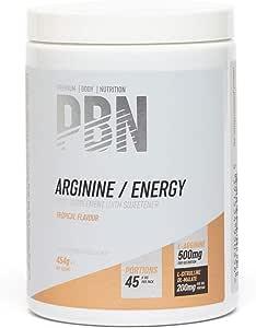 PBN - Premium Body Nutrition PBN - Bote de arginina energizante, 454 g (sabor tropical)