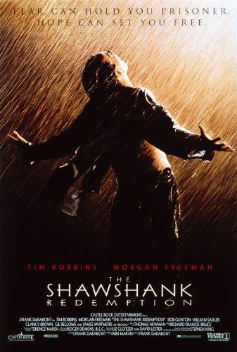 Shawshank Redemption Movie Art Print Movie Memorabilia Poster, Vibrant Color, Features Tim Robbins, Morgan