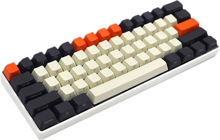 Sunzit Keycaps, 61 Tecla PBT Keycap Lindo Color Matching Theme Heigh Teclado Mecánico Lado Grabado Keycaps Juego para Cherry MX Teclado Interruptor ...