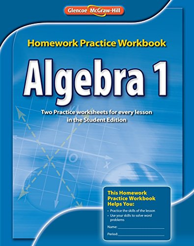 glencoe algebra 1 homework practice workbook answers