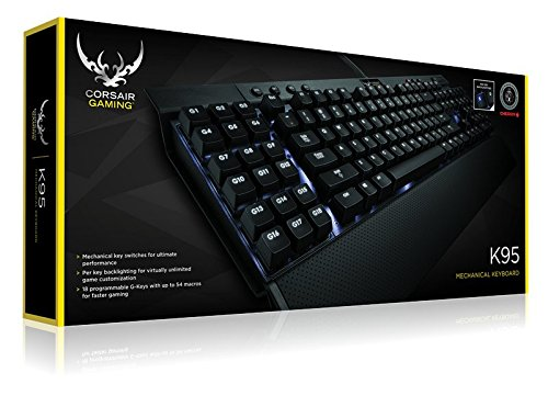 Corsair Gaming K95 Mechanical Keyboard with Back-Lit White LED, Cherry MX Red (C 3