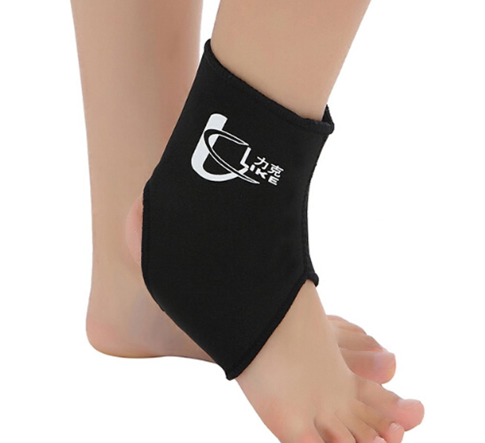 1 Pcs Breathable Ankle Foot Brace Support Pad Free Size BLACK Blancho Bedding