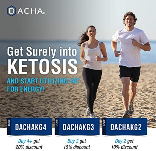 DACHA Ultra Fast Keto Boost - 1820 mg KetoGarden Pure Pills, 6X Extreme Rapid Ketosis, Manage Cravings Super Fast, Utilize Fat for Energy, Perfect Exogenous Ketones, Slim Weight Loss, Burn Xtreme 7