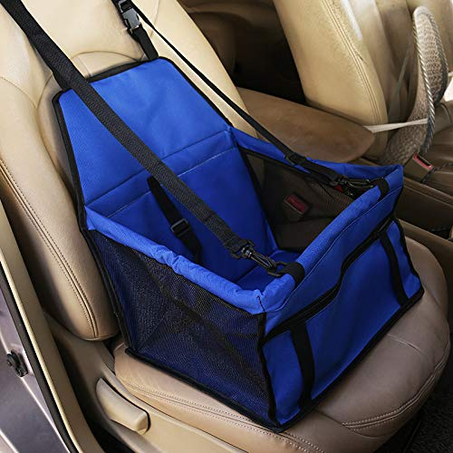 bluee Pet car seat, Waterproof seat Cover Hammock, pet car seat Cover Back seat,Touring car Back one-Sided flip Dog car seat,bluee