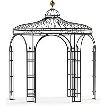 Carpa jardín, metal Cenador, cobertizos de jardín, Rose Carpa, Carpa Estable Holland Diámetro 180 cm (Negro Montaña Olin): Amazon.es: Jardín