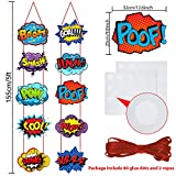 Large Hero Action Sign Cutouts Super Fun Hero Theme Party Supplies Door Hero Sign Hero Theme Birthday Party Hero Super Wall Decorations, 10 Counts