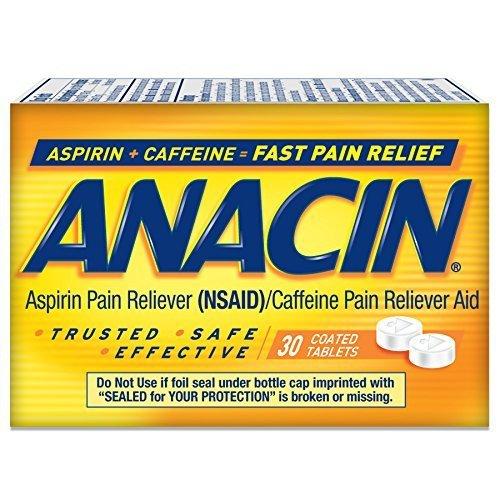 Anacin Pain Relief Tablets, 30 Count by Anacin - Anacin Aspirin