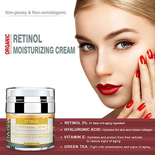 51yb6yUxN4L - Wumal Retinol Moisturizer Cream for Face and Eye Area - Anti Aging Infused with 3% Active Retinol, Hyaluronic Acid & Vitamin E - Reduce Wrinkles, Fine Lines, Fades Sun Spot